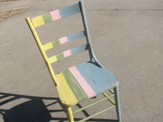 A Striped Chair on JanMadeIt