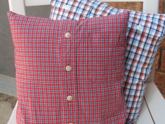 Plaid Pillow Makeovers on JanMadeIt