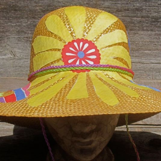 Rescued Sun Hat by Jan on JanMadeIt